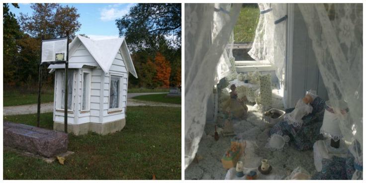 OLYMPUS DIGITAL CAMERA Arlington East Hill Cemetery-Rush County, IN Cline, Lova 1902-1908 D/O George & Mary Cline.